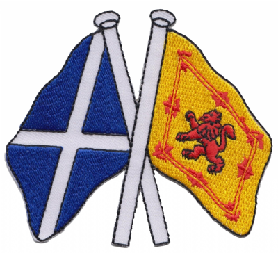 Scotland & Scotland Lion Rampant Friendship Embroidered Patch A209